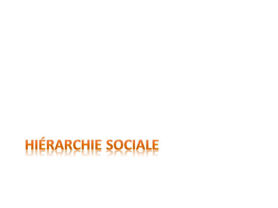 Définition de hiérarchie sociale Classement des membres dune société selon leur degré de pouvoir, de richesse ou dinfluence.