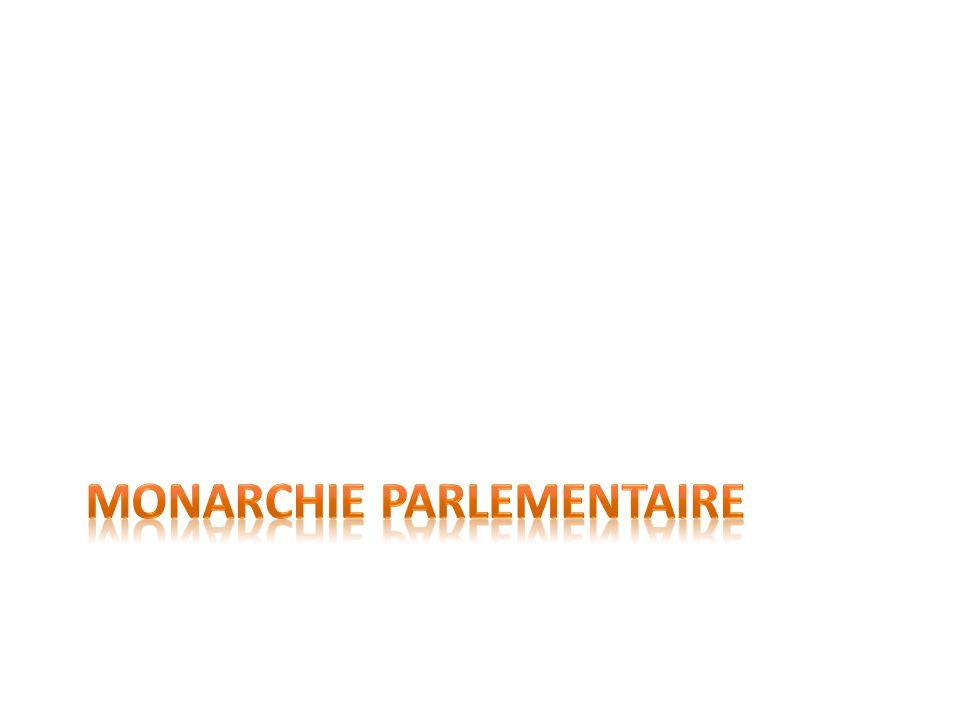 Définition de monarchie parlementaire Dans ce système politique, le roi partage ses pouvoirs avec un parlement.