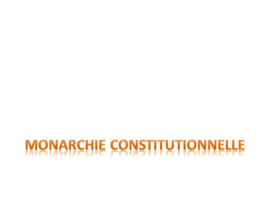 Définition de monarchie constitutionnelle Organisation politique où un roi est à la tête de lÉtat, mais avec des pouvoirs limités par une constitution.