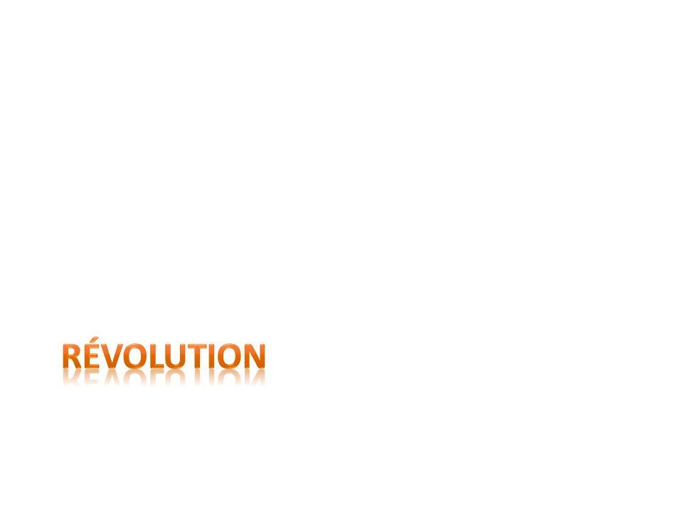 Définition de révolution Changement rapide et parfois violent de lordre social et politique dun pays.