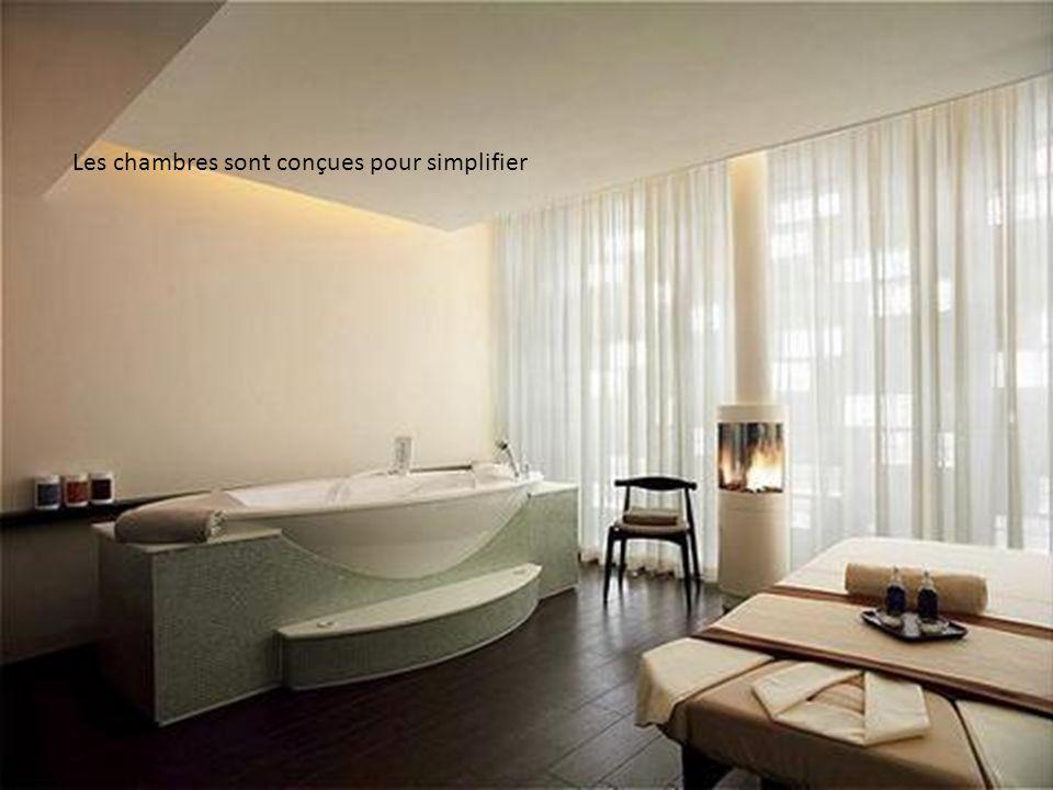 Les chambres sont conçues pour simplifier