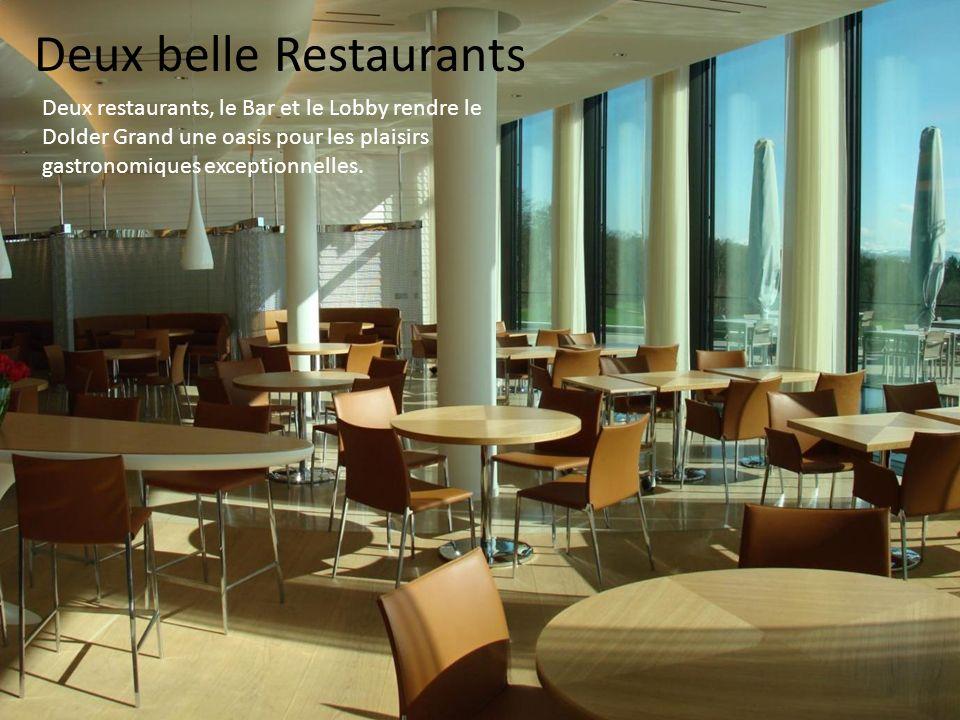 Deux belle Restaurants Deux restaurants, le Bar et le Lobby rendre le Dolder Grand une oasis pour les plaisirs gastronomiques exceptionnelles.