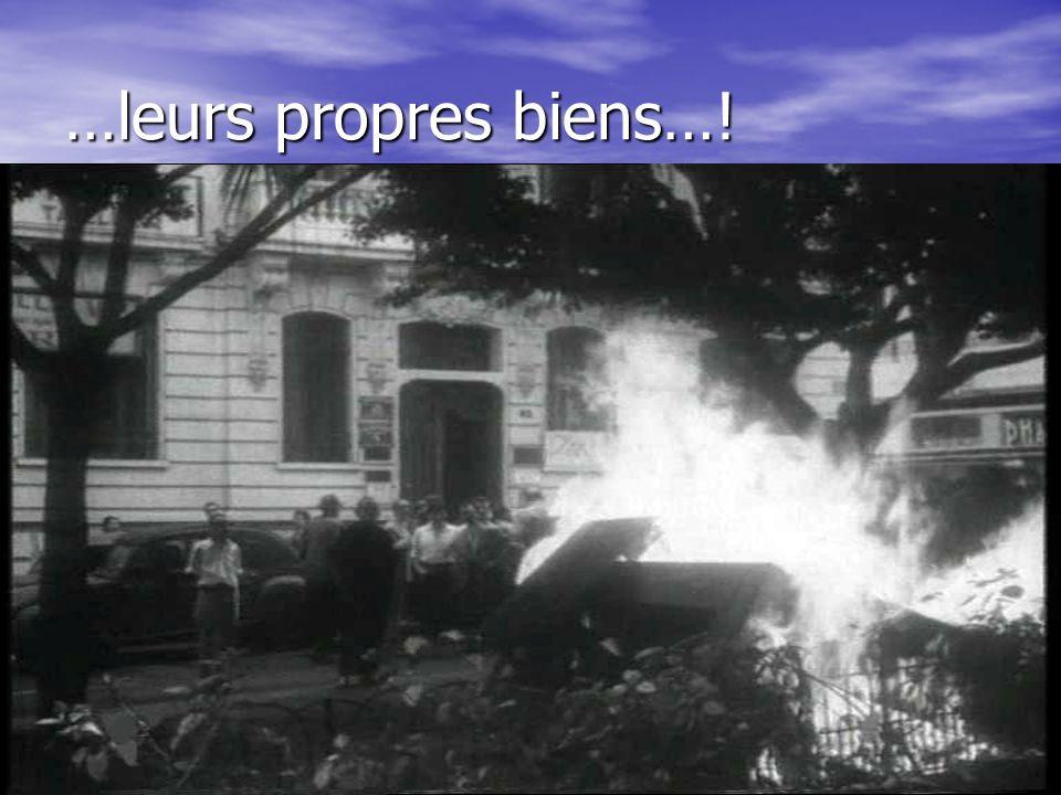 101 … les assassins…. mitraillent les passants, mitraillent les passants,..plastiquent les biens, se livrent aux assassinats gratuits. se livrent aux