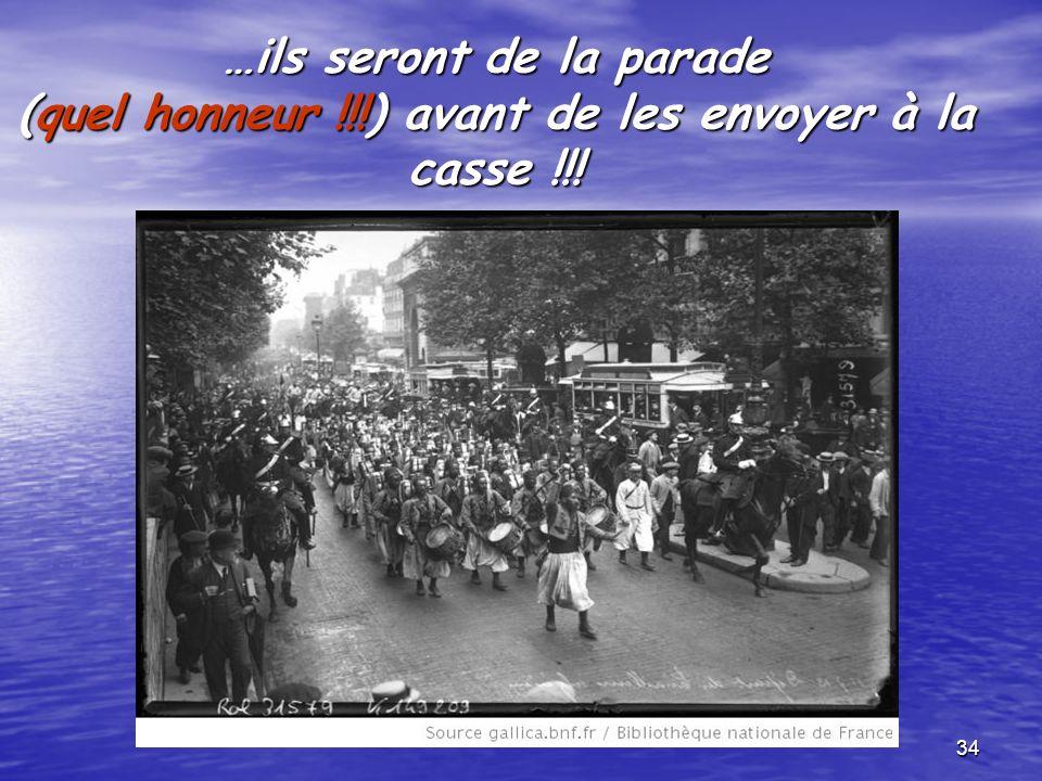 33 On exhibait les indigènes avant de les envoyer à … avant de les envoyer à … une mort certaine !!.