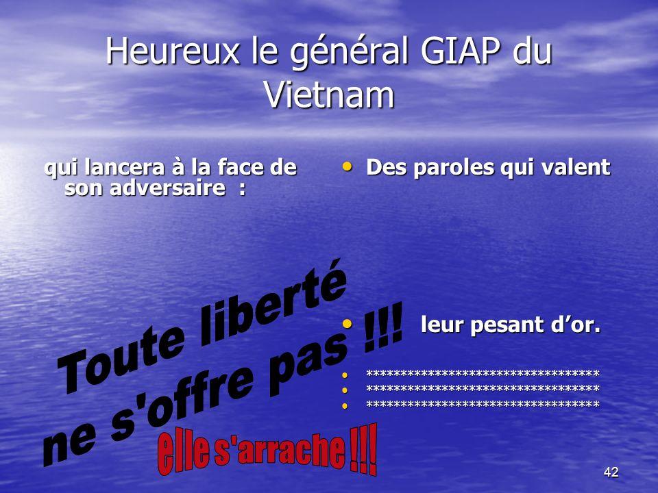 41 Le 07/05/1954 la France, en Indochine, se fait humilier lors de la célèbre se fait humilier lors de la célèbre bataille de Dien Bien Phû par les Vietminh.