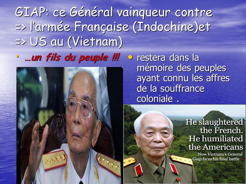 42 Heureux le général GIAP du Vietnam qui lancera à la face de son adversaire : qui lancera à la face de son adversaire : Des paroles qui valent Des p