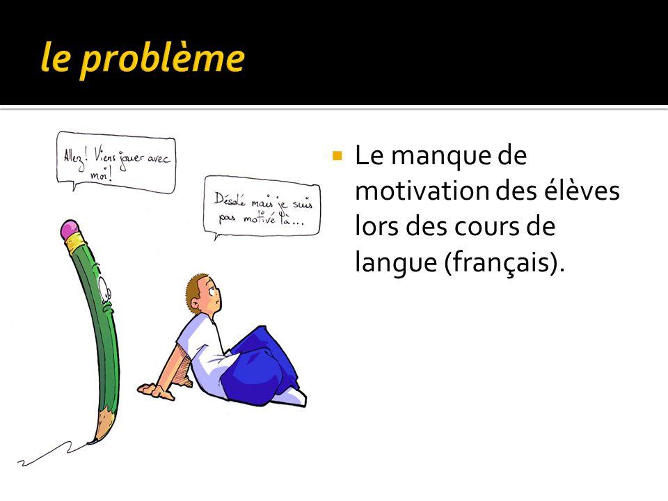 Le manque de motivation des élèves lors des cours de langue (français).