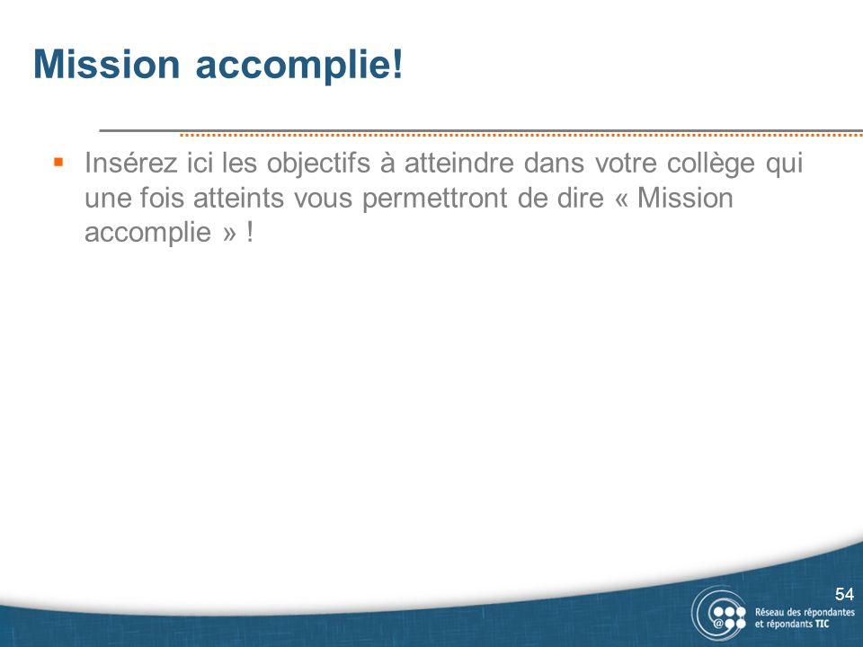 Mission accomplie.