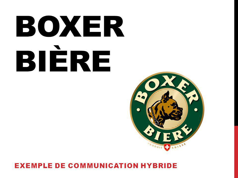 OBJECTIFS Boxer : Bière suisse, brassée à Romanel-sur-Lausanne Image plutôt ringarde et rurale Linsight : « Cest une bonne bière, mais cest pour les vieux paysans » Objectifs: Rajeunir et valoriser la marque Créer une identification de la marque par un public jeune