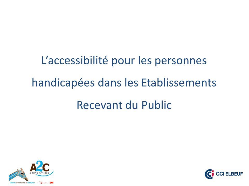 CONTEXTE : La loi du 11 février 2005, « Loi pour légalité des droits et des chances, la participation et la citoyenneté des personnes handicapées », a pour principe général laccessibilité de tout à tous.