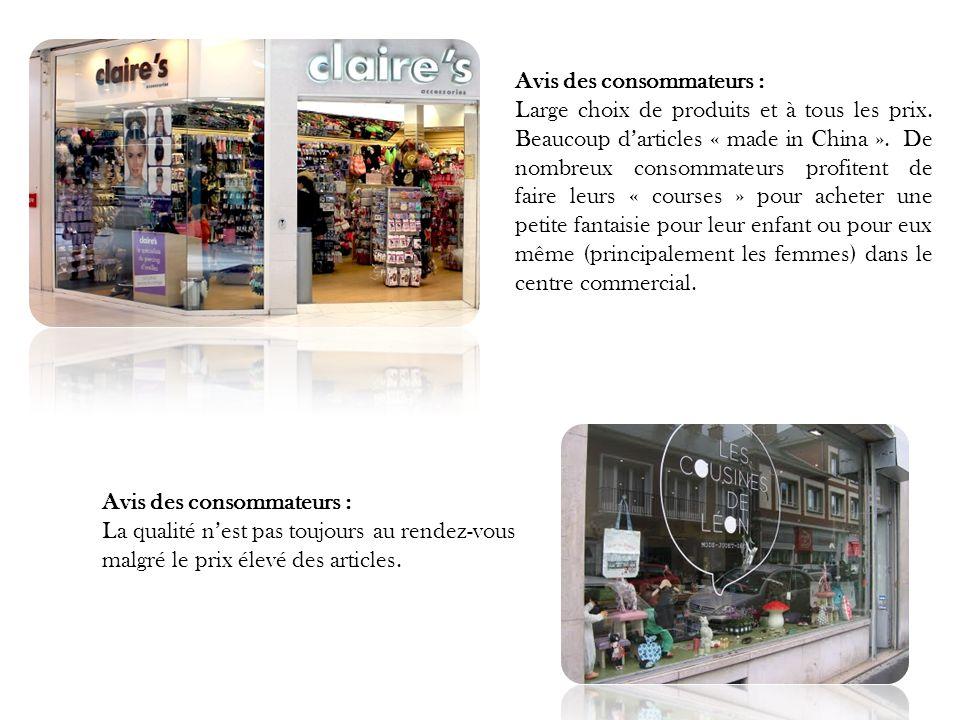 Avis des consommateurs : Large choix de produits et à tous les prix.
