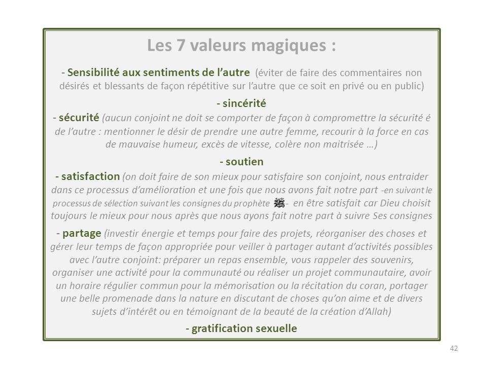 Gratification sexuelle et Plaisir partagé Gratification sexuelle et Plaisir partagé 43