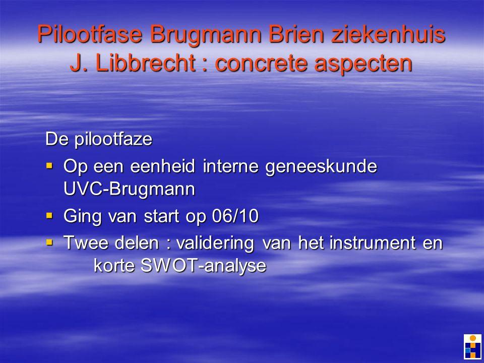 Pilootfase Brugmann Brien ziekenhuis J.