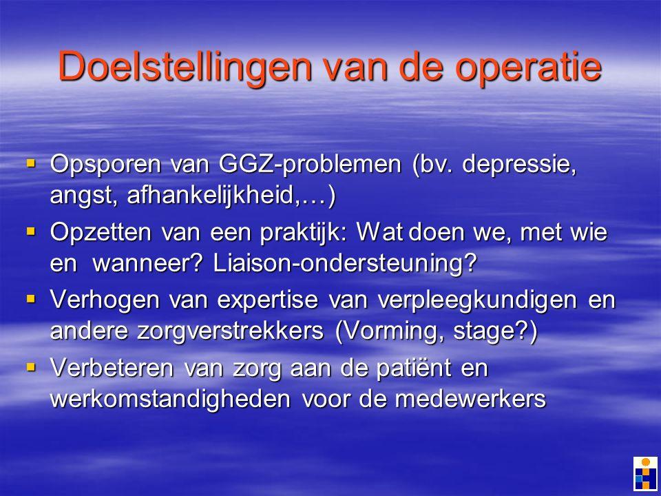 Doelstellingen van de operatie Opsporen van GGZ-problemen (bv.