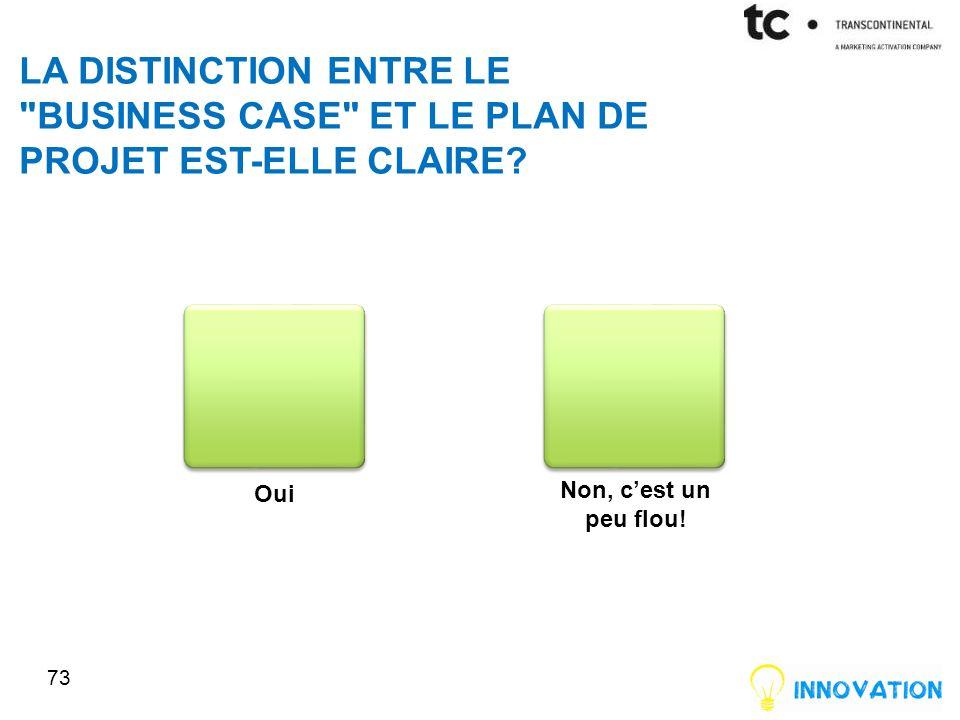 LA DISTINCTION ENTRE LE BUSINESS CASE ET LE PLAN DE PROJET EST-ELLE CLAIRE.