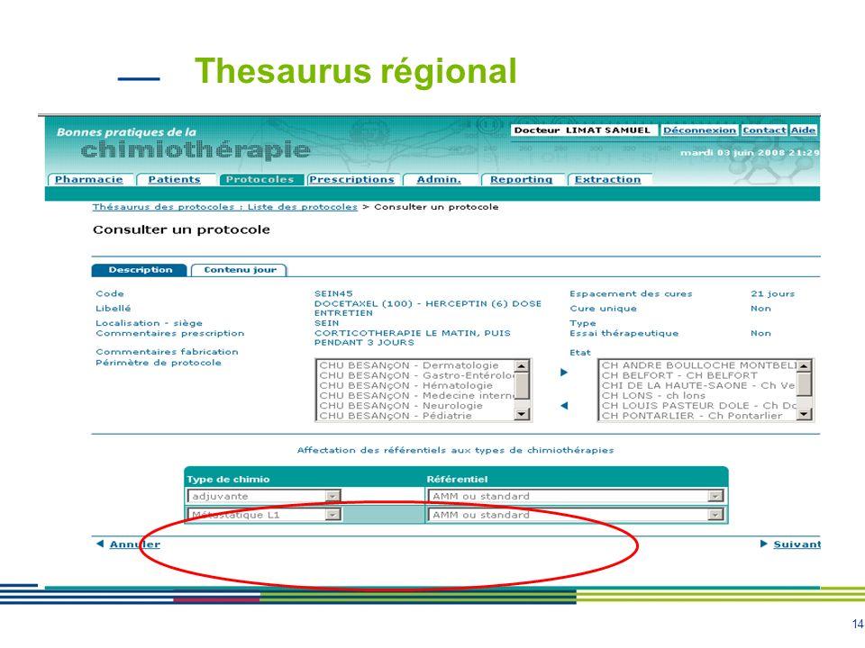 14 Thesaurus régional