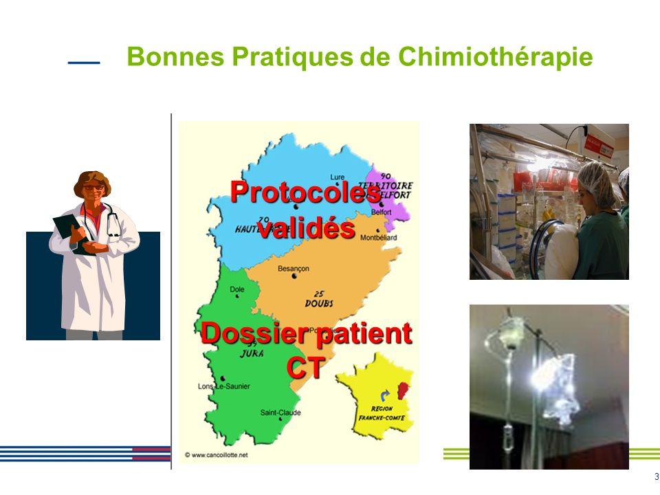 3 Bonnes Pratiques de Chimiothérapie Protocoles validés Dossier patient CT