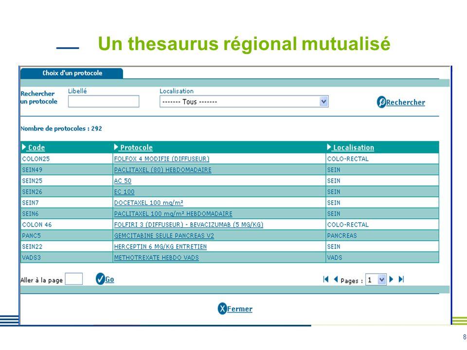 8 Un thesaurus régional mutualisé