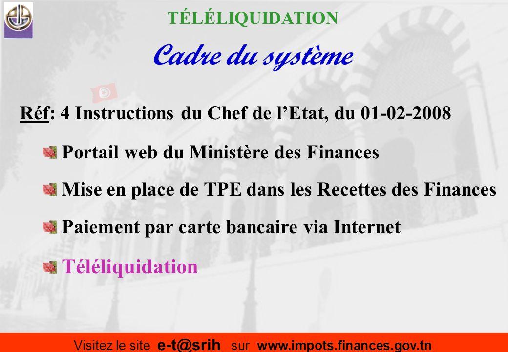 : Déclaration des impôts à distance et paiement à la Recette :Téléliquidation Téléliquidation Ministère des Finances www.portail.finances.gov.tn Copyr