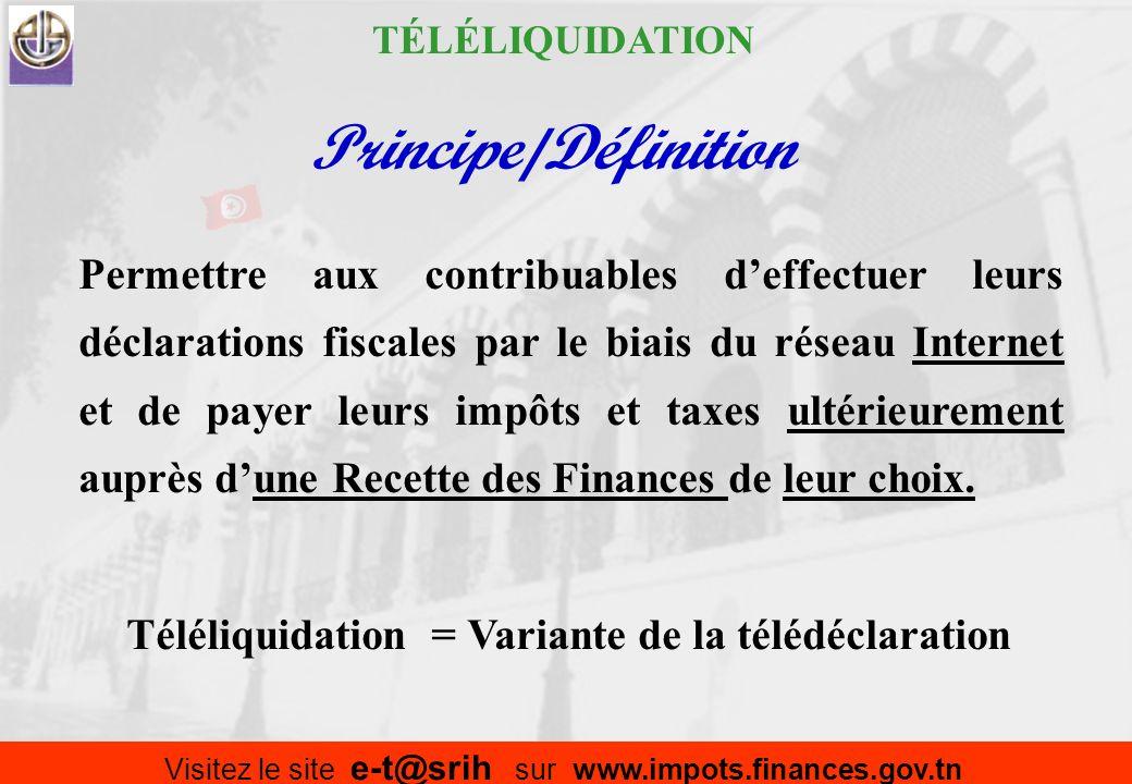 Cadre du système Réf: 4 Instructions du Chef de lEtat, du 01-02-2008 TÉLÉLIQUIDATION Portail web du Ministère des Finances Mise en place de TPE dans l
