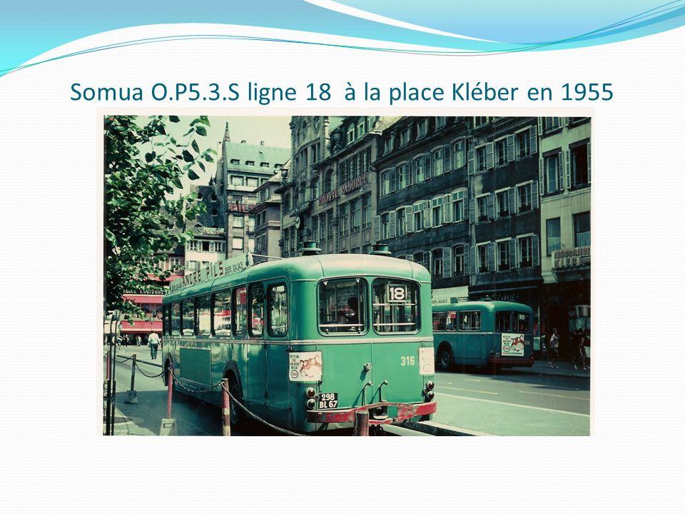 Somua O.P5.3.S ligne 18 à la place Kléber en 1955