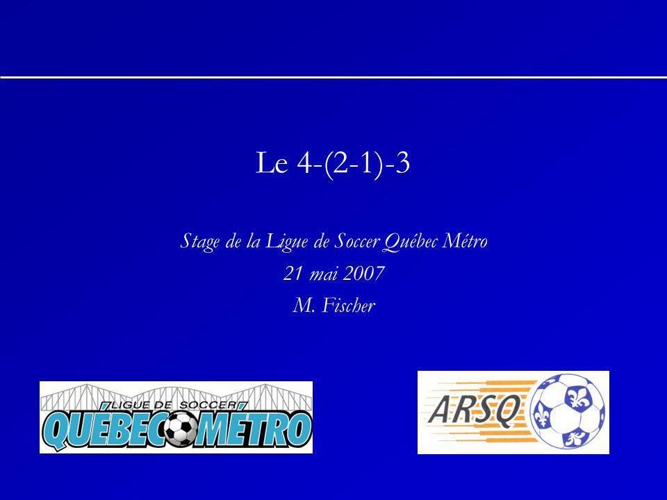 Le 4-(2-1)-3 Stage de la Ligue de Soccer Québec Métro 21 mai 2007 M. Fischer
