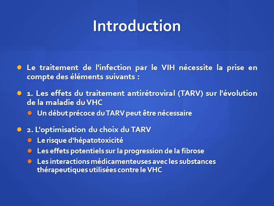 Introduction Le traitement de l'infection par le VIH nécessite la prise en compte des éléments suivants : Le traitement de l'infection par le VIH néce