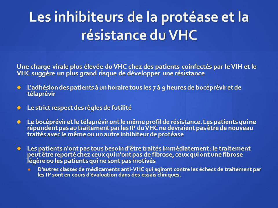 Les inhibiteurs de la protéase et la résistance du VHC Les inhibiteurs de la protéase et la résistance du VHC Une charge virale plus élevée du VHC che