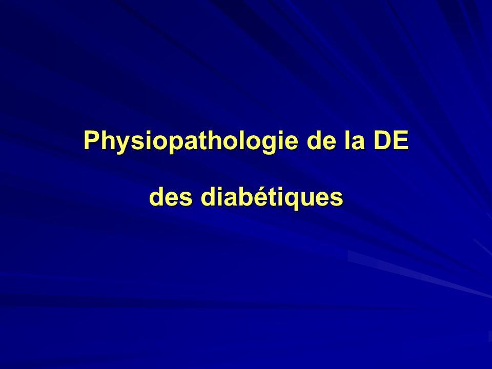 Physiopathologie de la DE des diabétiques