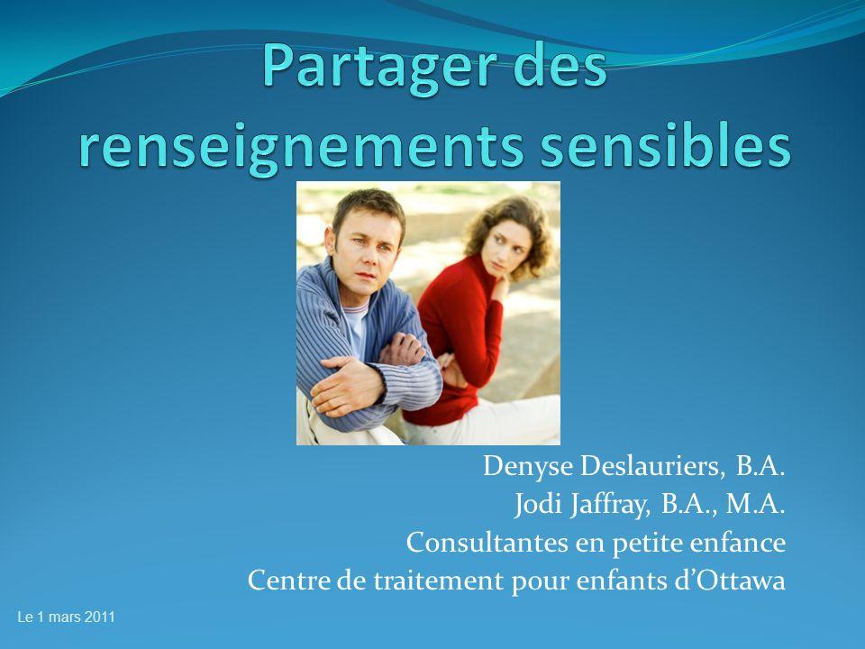 Denyse Deslauriers, B.A. Jodi Jaffray, B.A., M.A.