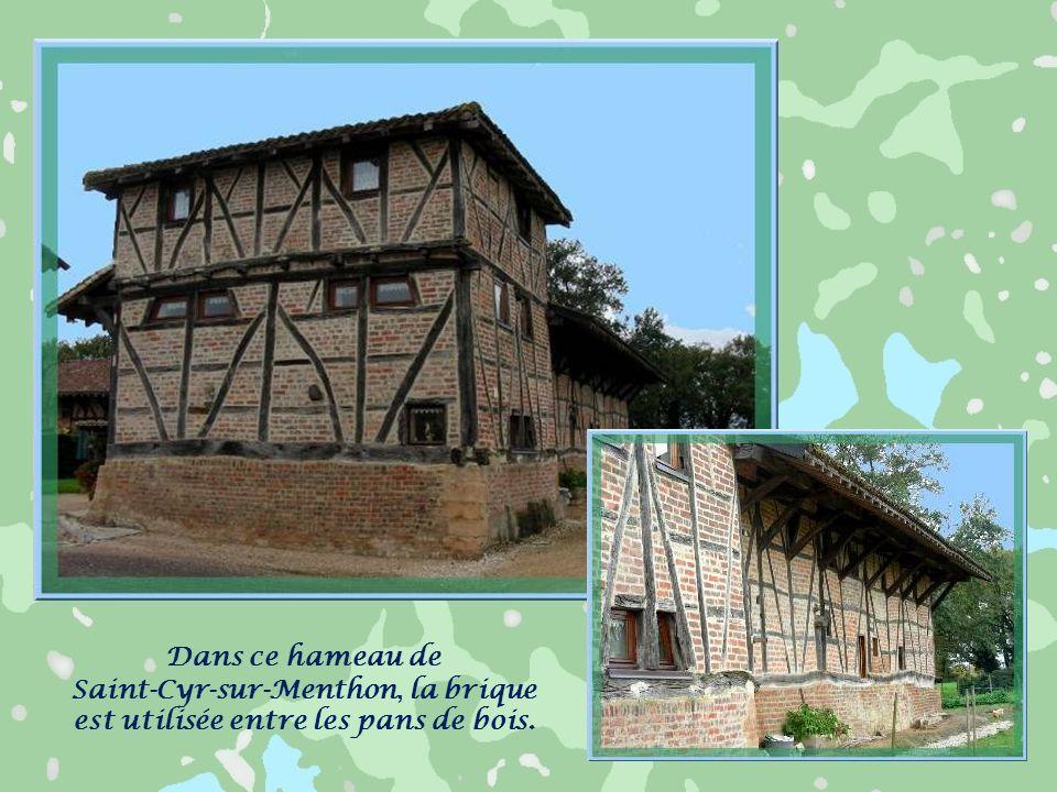 Les fermes bressanes sont constituées de longs bâtiments, souvent sans étage, à pans de bois avec torchis, ou brique, ou même complètement en pisé. La