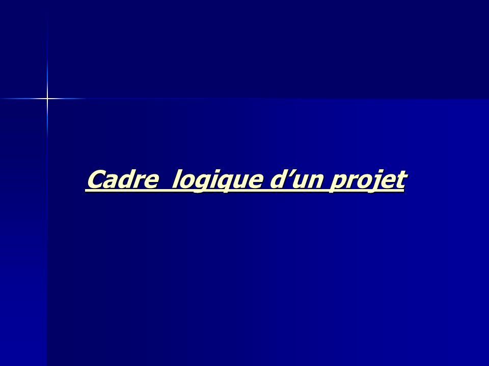 Cadre logique dun projet Cadre logique dun projet