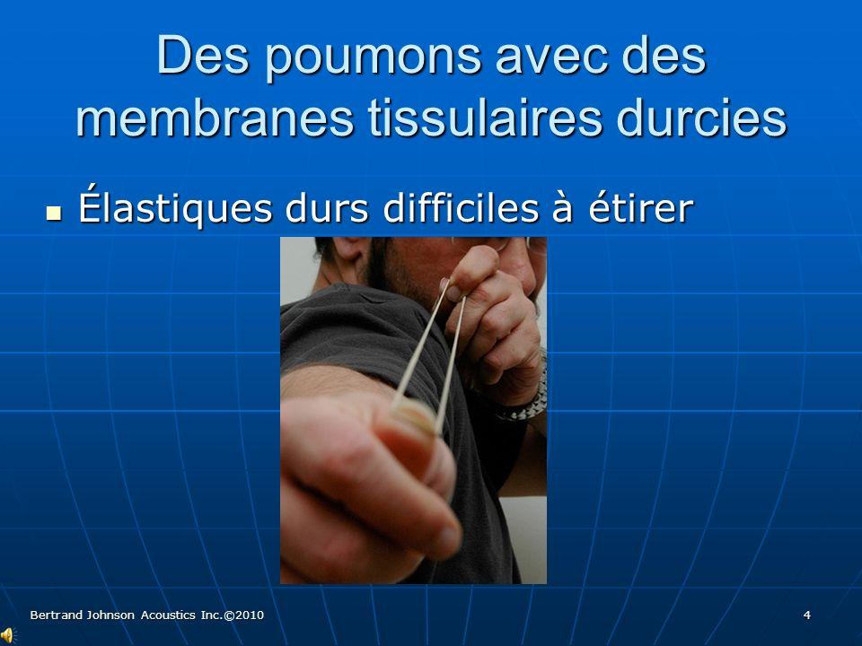 Des poumons avec des membranes tissulaires durcies Élastiques durs difficiles à étirer Élastiques durs difficiles à étirer Bertrand Johnson Acoustics