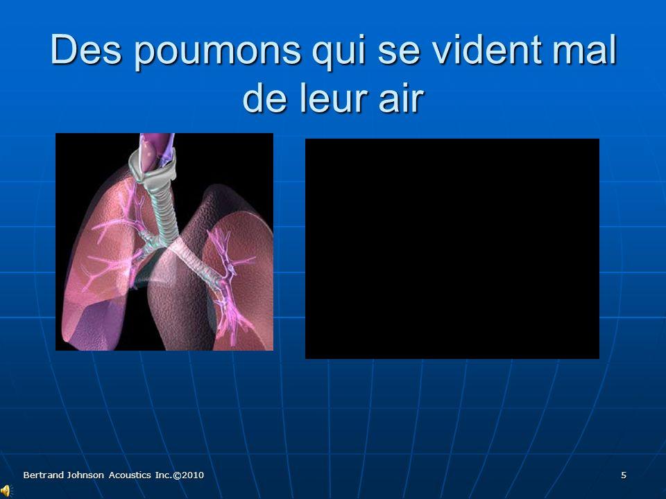 Des poumons : tuyaux dentrée et de sortie dair restreint Bertrand Johnson Acoustics Inc.©2010 6