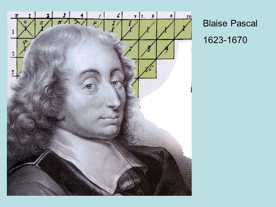 Blaise Pascal 1623-1670