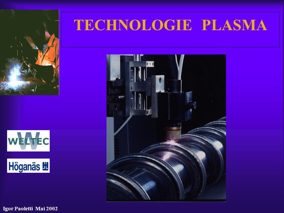 Igor Paoletti Mai 2002 TECHNOLOGIE PLASMA