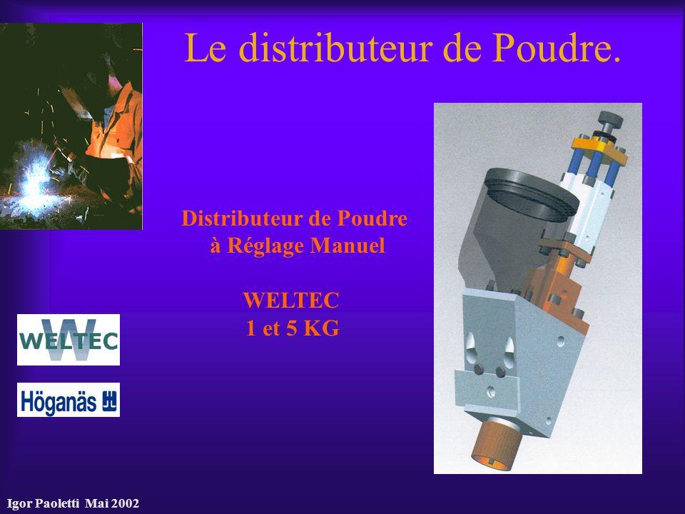Igor Paoletti Mai 2002 Le distributeur de Poudre. Distributeur de Poudre à Réglage Manuel WELTEC 1 et 5 KG