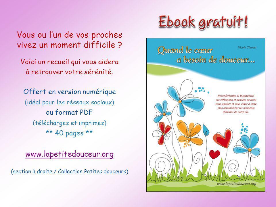 www.lapetitedouceur.org Pensée du jour Aujourdhui, jaurai des pensées qui guérissent.