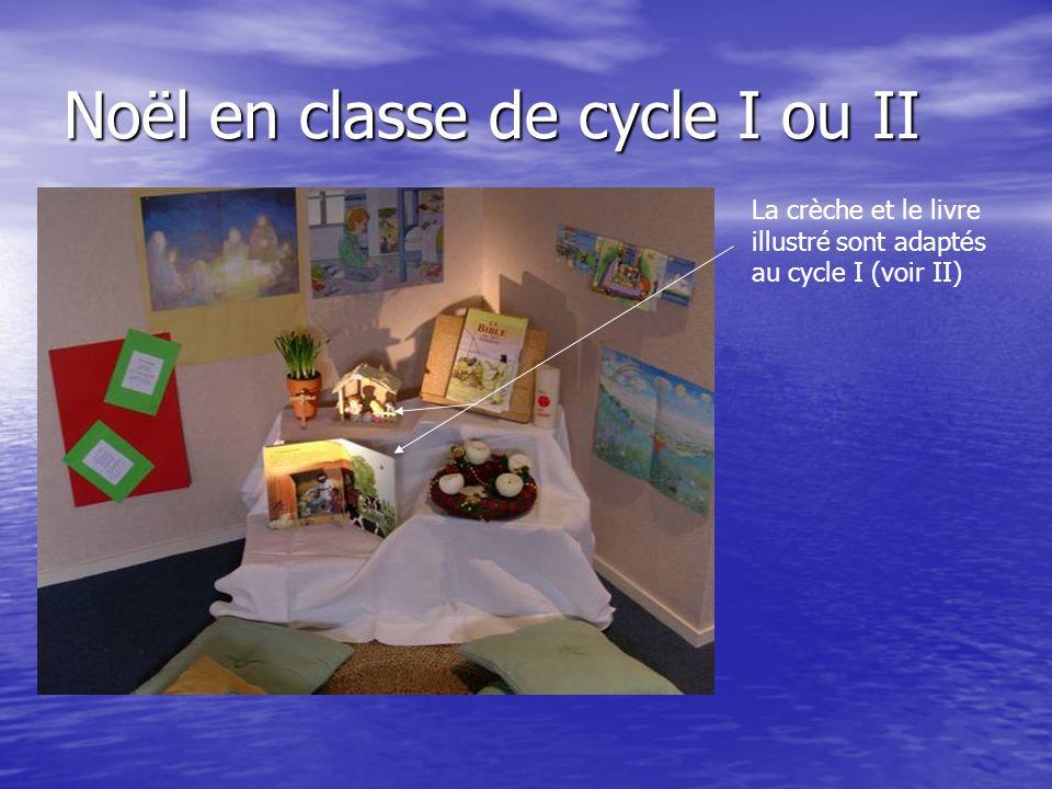 Noël en classe de cycle I ou II La crèche et le livre illustré sont adaptés au cycle I (voir II)