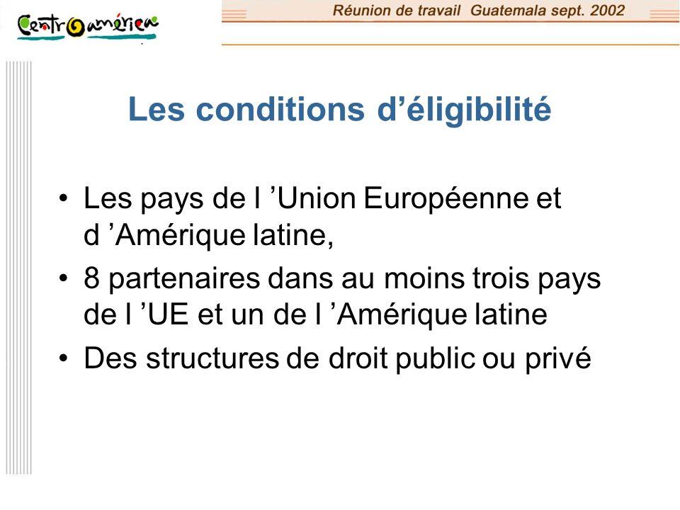 Le proposant et les partenaires Le proposant doit être un organisme européen public ou privé à but non lucratif, Les partenaires peuvent avoir toute entité juridique dans les pays concernés.