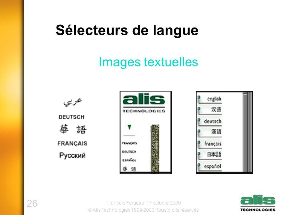 26 © Alis Technologies 1999-2000.