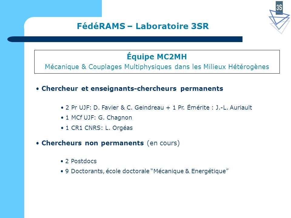 FédéRAMS – Laboratoire 3SR 2 Pr UJF: D. Favier & C.