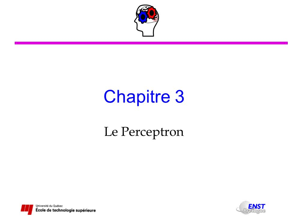 Chapitre 3 Le Perceptron