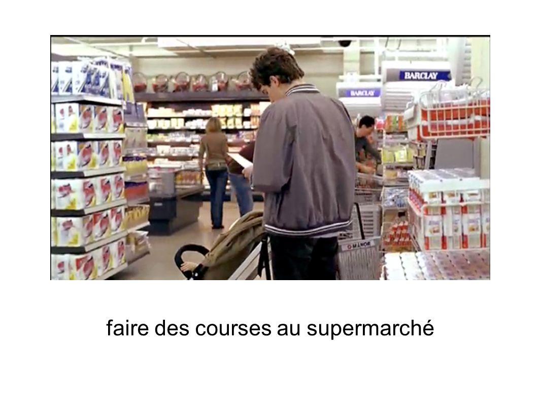 faire des courses au supermarché