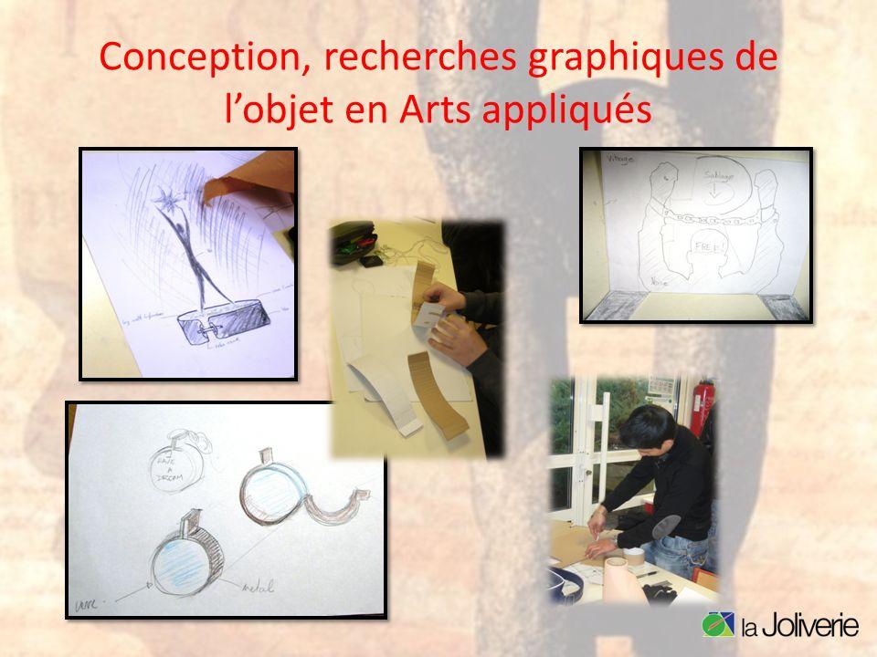 Conception, recherches graphiques de lobjet en Arts appliqués