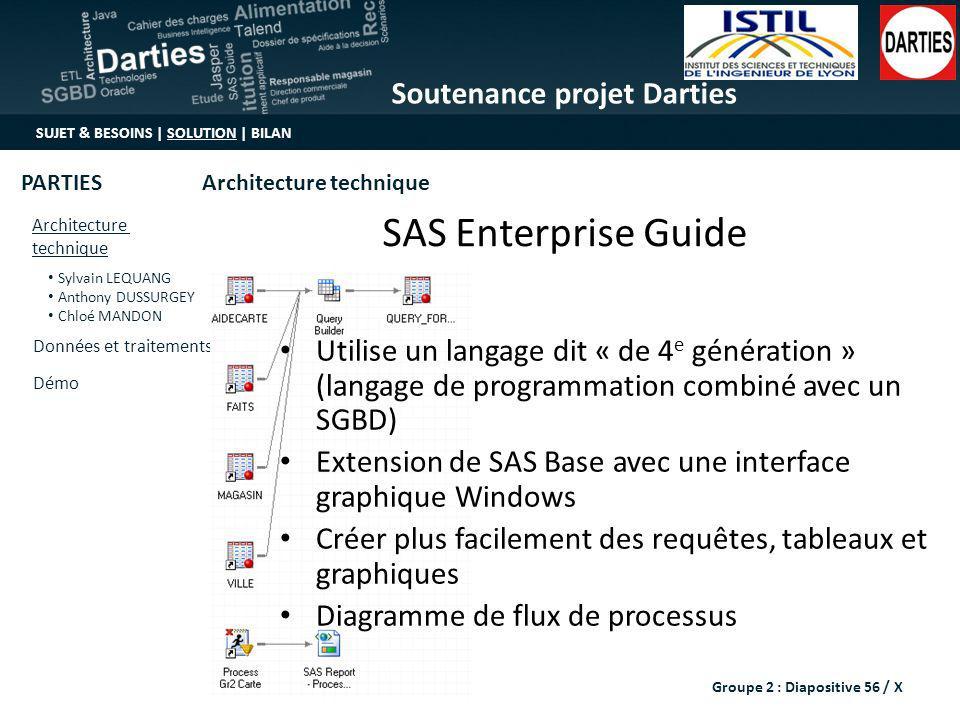 Soutenance projet Darties SUJET & BESOINS | SOLUTION | BILAN Architecture technique Sylvain LEQUANG Anthony DUSSURGEY Chloé MANDON Données et traiteme