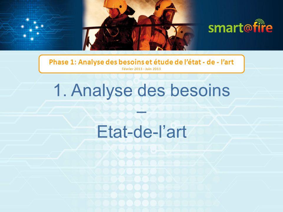1. Analyse des besoins – Etat-de-lart Phase 1: Analyse des besoins et étude de létat - de - lart Février 2013 - Juin 2013