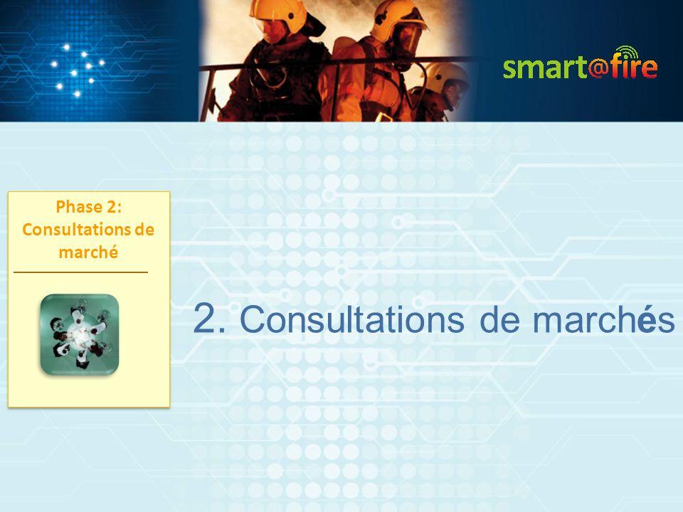2. Consultations de marchés Phase 2: Consultations de marché