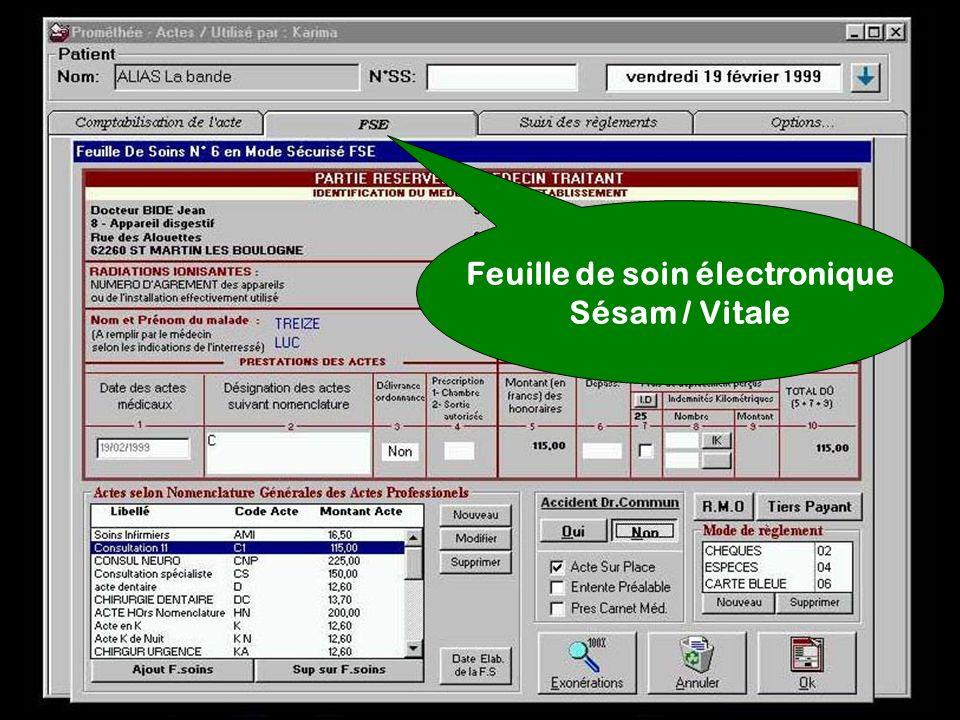 Feuille de soin électronique Sésam / Vitale