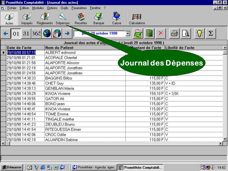 Journal des Dépenses